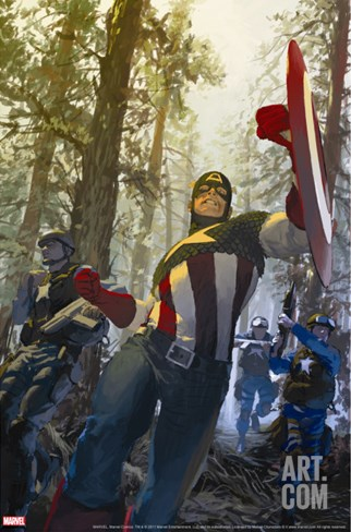 Captain America No.602 Cover: Captain America Stretched Canvas Print