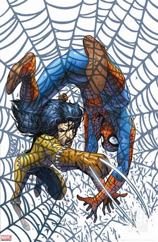 Marvel Team Up No.5 Cover: X-23 and Spider-Man Stretched Canvas Print