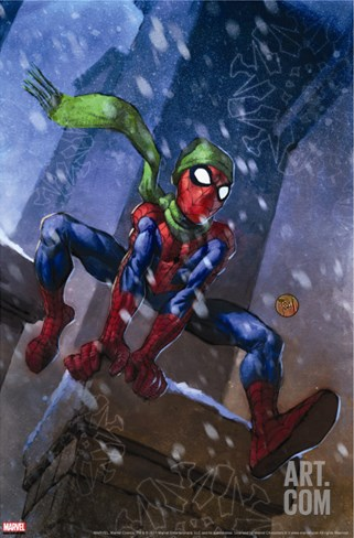 Marvel Adventures Spider-Man No.46 Cover: Spider-Man Stretched Canvas Print