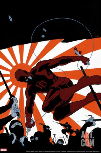 Daredevil No.505 Cover: Daredevil Stretched Canvas Print
