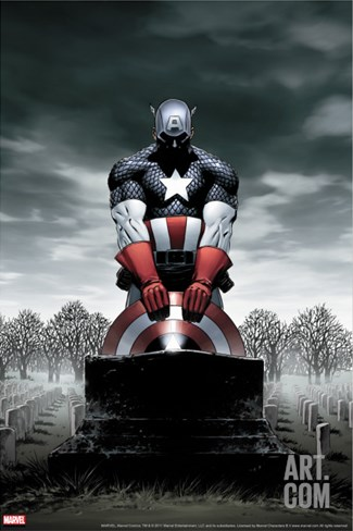Captain America No.4 Cover: Captain America Stretched Canvas Print