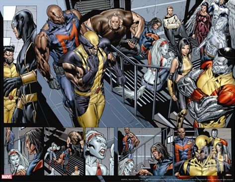 Uncanny X-Men No.494 Group: Wolverine, Bishop, Colossus, X-23 and Hepzibah Stretched Canvas Print