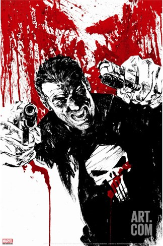 Punisher War Journal #17 Cover: Punisher Stretched Canvas Print