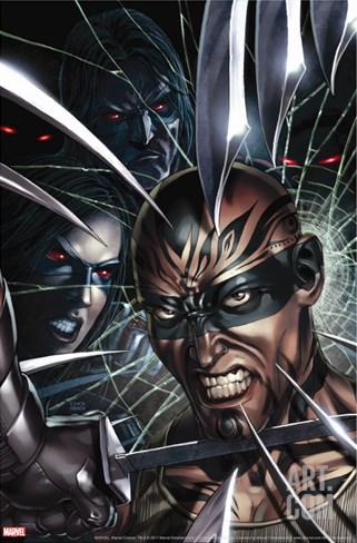 X-Force No.8 Cover: X-23 and Vanisher Stretched Canvas Print
