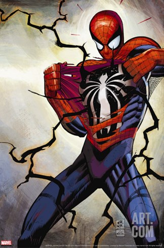 The Amazing Spider-Man No.568 Cover: Spider-Man Stretched Canvas Print