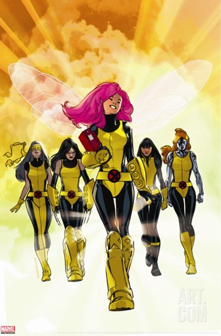 X-Men: Pixie Strikes Back No.1 Cover: Pixie, X-23, Blindfold, Armor and Mercury Stretched Canvas Print