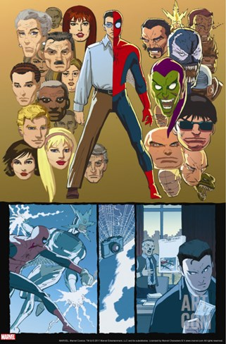 The Amazing Spider-Man #568 Group: Spider-Man Stretched Canvas Print