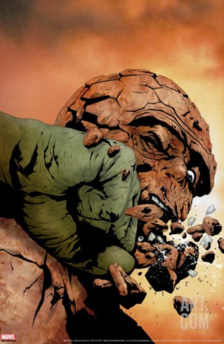 Hulk & Thing: Hard Knocks No.3 Cover: Hulk and Thing Stretched Canvas Print