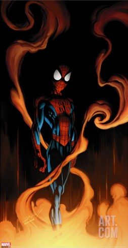 Ultimate Spider-Man No.59 Cover: Spider-Man Stretched Canvas Print