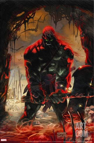 Skaar: Son Of Hulk No.3 Cover: Skaar Jumping Stretched Canvas Print