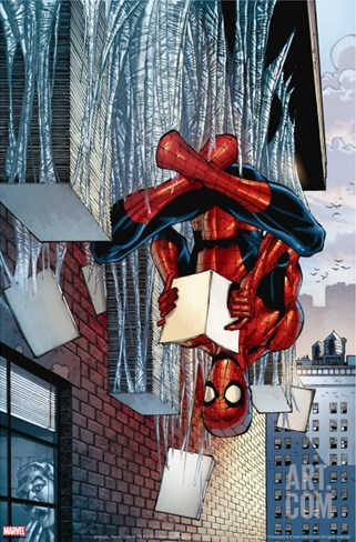 Amazing Spider-Man Family No.3 Cover: Spider-Man Stretched Canvas Print