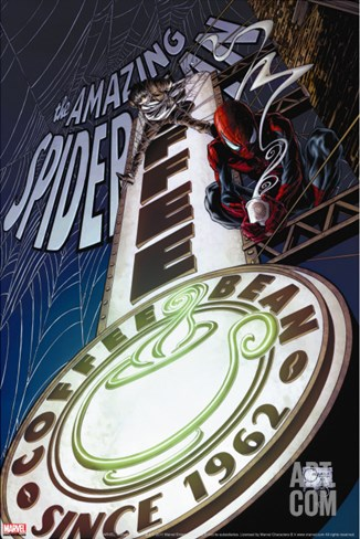 The Amazing Spider-Man No.593 Cover: Spider-Man Stretched Canvas Print