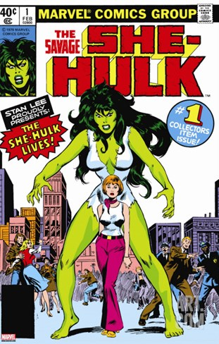 Hulk Family: Green Genes No.1 Cover: She-Hulk, Walters and Jennifer Stretched Canvas Print