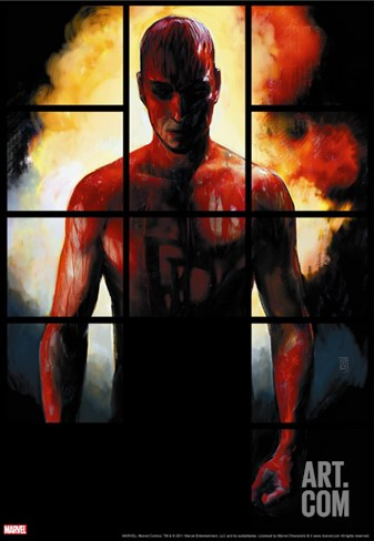 Daredevil No.79 Cover: Daredevil Stretched Canvas Print