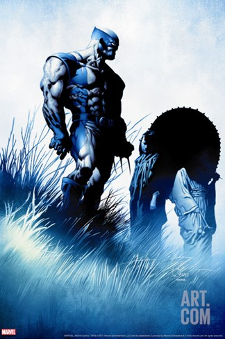 Wolverine No.36 Cover: Wolverine Fighting Stretched Canvas Print