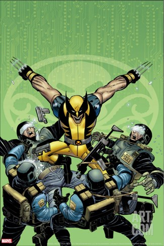 Wolverine No.23 Cover: Wolverine Stretched Canvas Print