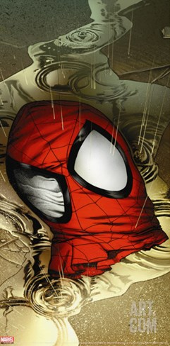 Ultimate Spider-Man No.133 Cover: Spider-Man Stretched Canvas Print