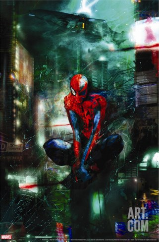 Timestorm 2009/2099 No.1 Cover: Spider-Man Stretched Canvas Print