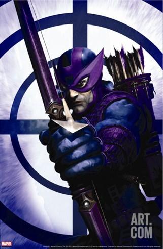Dark Reign: Hawkeye No.1 Cover: Hawkeye Stretched Canvas Print