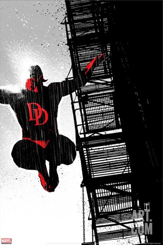 Daredevil Noir No.1 Cover: Daredevil Stretched Canvas Print