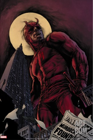 Daredevil By Ed Brubaker Saga Cover: Daredevil Stretched Canvas Print