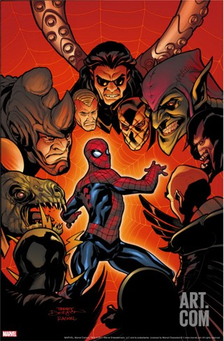 Marvel Knights Spider-Man No.9 Cover: Spider-Man Stretched Canvas Print