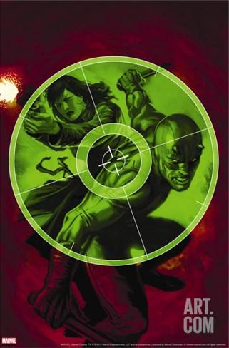 Daredevil No.108 Cover: Daredevil Stretched Canvas Print