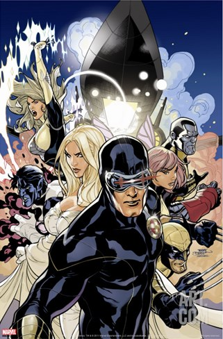 Uncanny X-Men No.505 Cover: Cyclops, Emma Frost and Dazzler Stretched Canvas Print