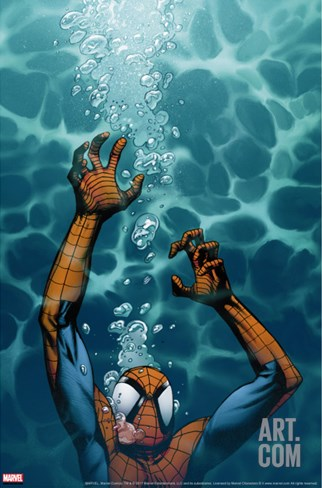 Ultimate Spider-Man No.130 Cover: Spider-Man Stretched Canvas Print