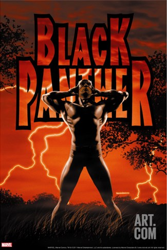 Black Panther No.6 Cover: Black Panther Stretched Canvas Print