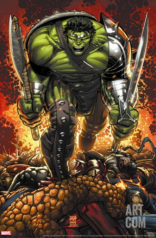 World War Hulk Prologue: World Breaker Cover: Hulk Stretched Canvas Print