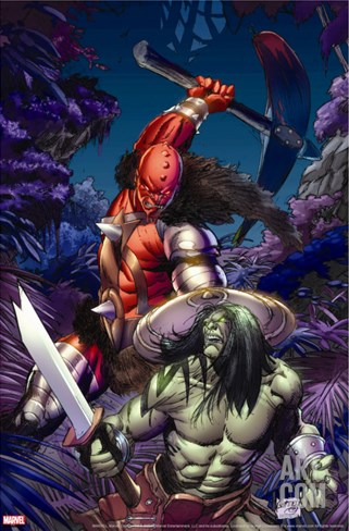 Skaar: Son Of Hulk No.6 Cover: Skaar Stretched Canvas Print