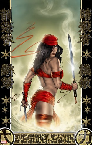 Elektra No.33 Cover: Elektra Stretched Canvas Print