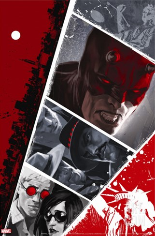 Daredevil No.104 Cover: Daredevil Stretched Canvas Print