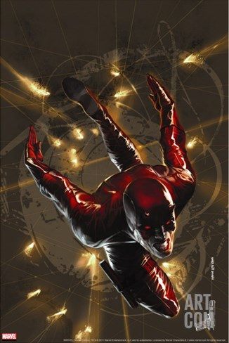 Daredevil No.98 Cover: Daredevil Stretched Canvas Print