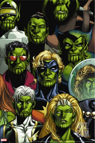 Secret Invasion: Who Do You Trust? Cover: Namora Stretched Canvas Print