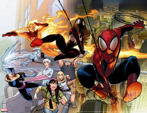 Ultimate Comics Spider-Man No.1 Cover: Spider-Man Stretched Canvas Print
