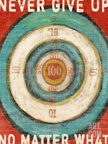 Vintage Dartboard Bullseye Stretched Canvas Print