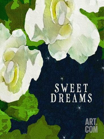 Sweet Dreams Gardenias Stretched Canvas Print