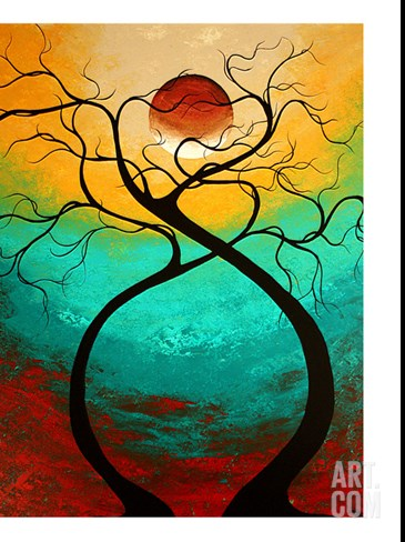 Twisting Love Stretched Canvas Print