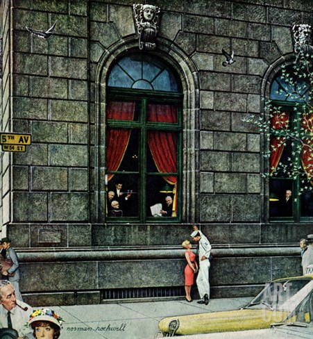 """University Club"", August 27,1960 Stretched Canvas Print"