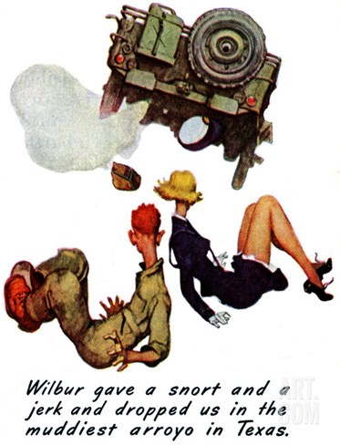 """The Wonderful Life of Wilbur the Jeep"" B, January 29,1944 Stretched Canvas Print"