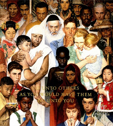 """Golden Rule"" (Do unto others), April 1,1961 Stretched Canvas Print"