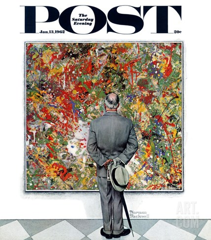 """Art Connoisseur"" Saturday Evening Post Cover, January 13,1962 Stretched Canvas Print"
