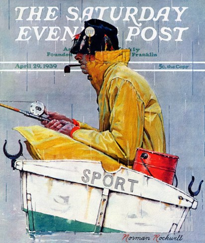 """Sport"" Saturday Evening Post Cover, April 29,1939 Stretched Canvas Print"