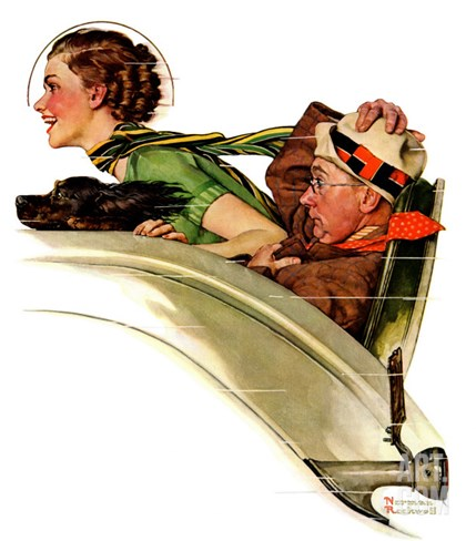 """Exhilaration"", July 13,1935 Stretched Canvas Print"