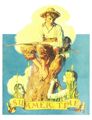 """Summertime, 1933"", August 5,1933 Stretched Canvas Print"