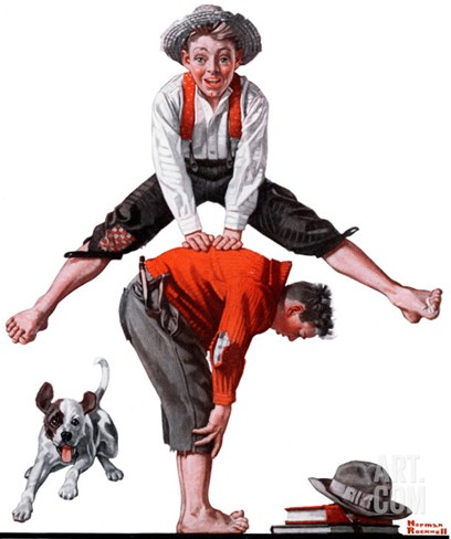 """Leapfrog"", June 28,1919 Stretched Canvas Print"