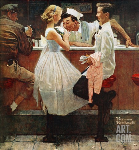 """After the Prom"", May 25,1957 Stretched Canvas Print"