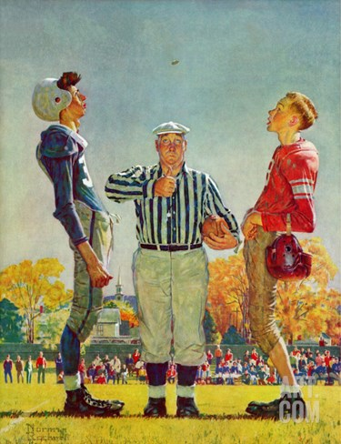 """Coin Toss"", October 21,1950 Stretched Canvas Print"